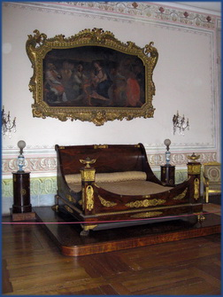 Das Bett des Königs im Palácio Nacional de Mafra