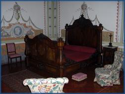 Das Bett der Königin im Palácio Nacional de Mafra