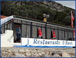 Das Restaurant O Farol in Portinho da Arrábida