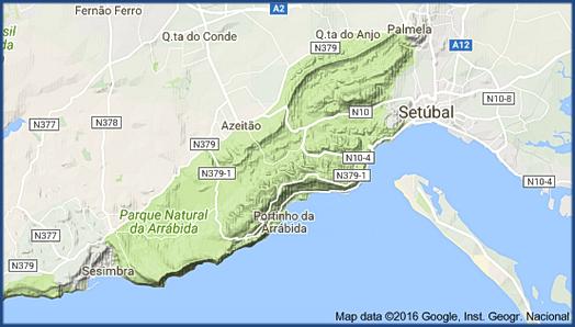 Lageplan der Serra da Arrábida