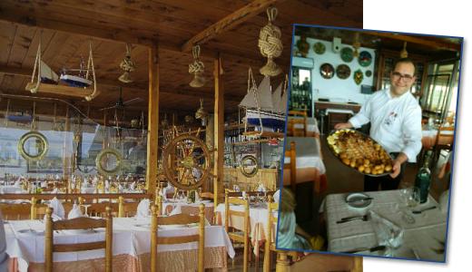 Foto des Innenraums des Fischrestaurants Esplanada Furnas in Ericeira und unser Mittagessen