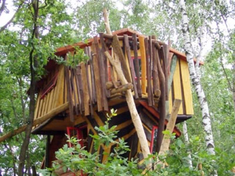 Das Judka Trollhaus hoch in den Bäumen