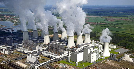 Foto von einer Kohlekraftwerkanlage