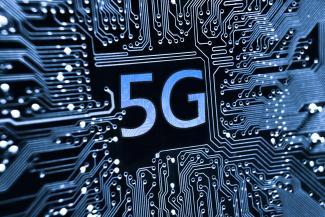 Symbolgrafik für das 5G-Mobilfunknetz