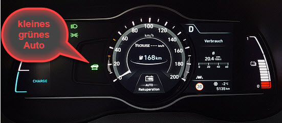 Digitale Instrumente im Hyundai Kona Electric