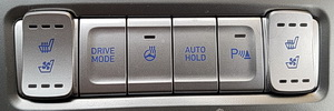 Foto einiger Bedienungselemente im Hyundai Kona Electric