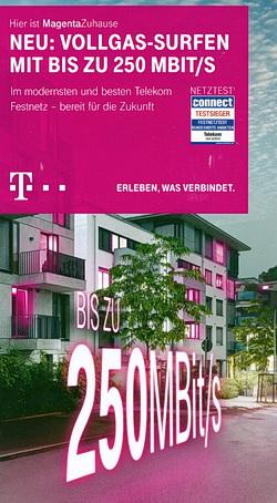 Vorderseite des Telekom Flyers