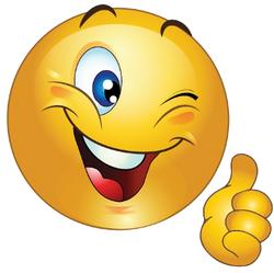 Smiley, der viel Spaß wünscht