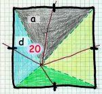 Flächengröße für links oben: 20