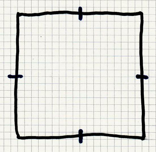 Symbolgrafik eines leeren Quadrats