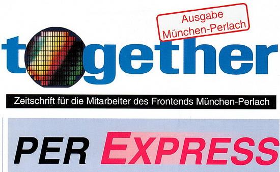 Logo der SIemens Mitarbeiter-Zeitschrift PER EXPRESS - 1998