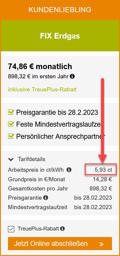Der ESB Tarif Mein FIX Gas im Detail