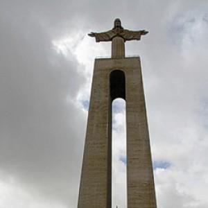 Cristo Rei Statue in Almada bei Lissabon